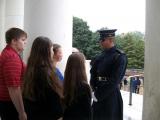 Preparing to Lay the Wreath at the Tomb of the Unknown Soldier