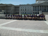 Outside the Capitol Building